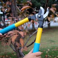 ferramentas de corte de sebes venda por atacado-Frete grátis jardinagem poda tesoura de flores árvores aparador de tesouras de hedge arbustos aparar cortando cerca cortador de ramos ferramenta de corte