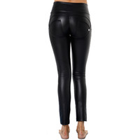 флисовые леггинсы для женщин оптовых-AK's hand leather sportswear fleece lined yoga pants compression push up leggings women shaping effect leggings in stock forever