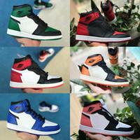 detailed look 14081 e4cbc 2018 nike air jordan 1 air max michael jordans retro shoes 1 Haute OG  Chaussures De Basket-ball Jeu Royal Banned Shadow Bred Toe pas cher Hommes  1s Brisé ...