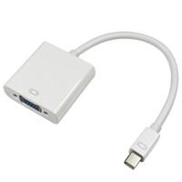 convertidor displayport vga al por mayor-Adaptador convertidor de cable a adaptador de cable VGA Mini DP Display Adaptadores Convertidores 9833 con empaquetado al por menor Colores blancos 500 Piezas arriba