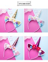 ingrosso cosplay della fascia del corno-Cute Magic Unicorn Horn Head Party Kid Girl Hair Fancy Dress Cosplay Decorativo