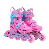 kinder skates verstellbar großhandel-Unisex Kinder Skating Schuhe Professionelle einreihige Rollschuhe Schuhe Einstellbare Kinder Inline Skating Perfektes Geschenk