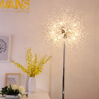 Wholesale Led Acrylic Stands - NANS modern design Acrylic floor lamps G4 LED Bulb 40W 60W 80W for living room  bedroon floor standing light 100% guarantee