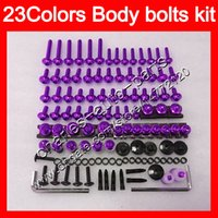 Wholesale Honda Cbr 929 Body Kit - Fairing bolts full screw kit For HONDA CBR929RR 00 01 CBR900RR CBR 929 RR 900RR CBR929 RR 2000 2001 Body Nuts screws nut bolt kit 23Colors