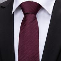 fábrica de gravata vermelha venda por atacado-Fábrica de luxo dos homens 100% Gravata De Seda Conjunto Ties Lenço Abotoaduras Vinho-Vermelho Sólidos Bolso Quadrado Gravata Do Casamento Do Lenço Do pescoço gravata