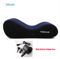Wholesale toughage pillows - TOUGHAGE Sex Sofa Inflatable Pillow Chair with Electric Pump Free Adult Sex Furniture Sex Games for Married Couples PF3207
