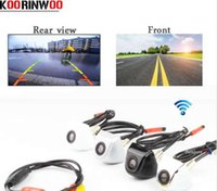 Wholesale front view camera waterproof - Koorinwoo HD CCD Car Rear View Camera Front camera Video System RCA Input Parking Camera Waterproof NTSC PAL Parking System v