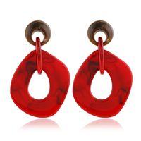 bijou en acrylique achat en gros de-Accessoires de mode exagérée géométrique boucles d'oreilles résine personnalisée acrylique lien rond oreille bijoux usine vente directe JY5344