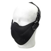 militärische taktische masken großhandel-Outdoor Jagd Schutz Half Face Mask Taktische Radfahren Atmungsaktive Gesichtsschutz Military Detective Sicherheit Leichte Schutzausrüstung