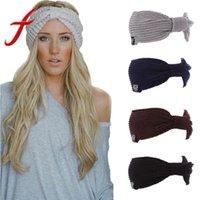 kablo örme kışlık şapka toptan satış-Kadınlar Bayanlar Için sıcak Kış Şapka At Kuyruğu Baggy Beanie Kadınlar Streç kablo Yün Örme Dağınık Bun Şapka Hımbıl Chic Cap Şapkalar Y18102210
