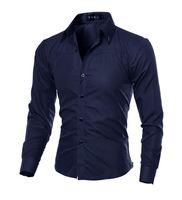 ingrosso casual shirts-Hombre Vestir Camicie Camicia Casual Slim Fit Uomo Camicia Chemise Homme Camicia Uomo Solid Mesh Heren Hemden Camisa Masculina 5XL