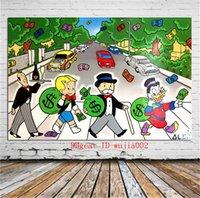 wandmalerei für wohnzimmer großhandel-Abbey Road, Leinwand Malerei Wohnzimmer Home Decor Moderne Wandmalerei Ölgemälde