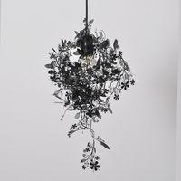 white gold garland 도매-플라워 펜던트 램프 블랙 / 화이트 / 골드 / 실버 현대 조명 가던 조명 펜던트 라이트 현대 디자인 레이저 E049 628