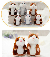 Wholesale Plush Talking - Talking Hamster Plush Doll Toys Cute 15cm Anime Cartoon Kawaii Speak Talking Sound Record Hamster Talking Christmas Gifts for Kids Children