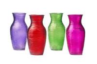jarrones morados al por mayor-Cristal de mesa Florero Decoración de escritorio Boda Adornos creativos rojo verde púrpura rosa envío gratis