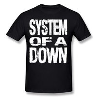 Wholesale Brown System - Wholesale Man 100% Cotton System Of A Down SOAD Tee Shirt Man Crew Neck Dark Blue Short Sleeve T-Shirt Big Size Casual Tee Shirt