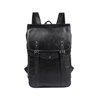 Wholesale martial arts material - Hot sale Europe and the United States top backpack fashion England backpack unisex school bag PU material waterproof bag