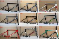 bisiklet bisikleti çerçevesi toptan satış-13 renk Yeni geldi 2018 SL6 karbon Çerçeve Yol bisiklet çerçeve Tam Karbon fiber yol bisikleti frameset ücretsiz kargo