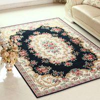 alfombras de salón al por mayor-Jacquard Large Carpets for LivingRoom European Hallway Rugs for Bedroom Living room Wilton Bedside Mat Home Floor Rug