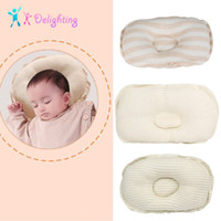 Wholesale head beds resale online - Cute Newborn Bedding Pillow Prevent Flat Head Infant Pillows Support Baby Children Anti migraine Pillow Shape Kids Pillows