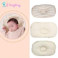 almohada migraña al por mayor-Recién Nacido linda cama y almohada previene la cabeza plana infantil almohadas de soporte niños del bebé contra la migraña forma de almohada almohadas para niños