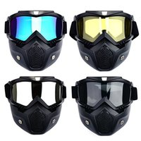 Wholesale polarize filter for sale - Group buy Men Ski Snowboard Mask Winter Ski Snowmobile Goggles Windproof Skiing Glasses Motocross Sunglasses with Mouth Filter