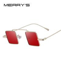 Wholesale men s steampunk - MERRY'S Fashion Gothic Steampunk Sunglasses Brand Designer Square Sunglasses For Men Women Sun Glasses S'8084