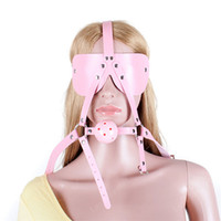 Wholesale ball head bdsm for sale - Group buy Pink Breathable Ball Gag with Blindfold BDSM Sex Products Sex Toys for Couples Leather Head Harness Bondage Adult Sex Game Toys