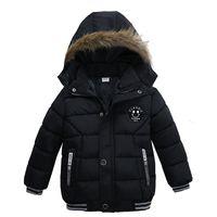 ingrosso stella giù giacca-Piumino Boy Inverno caldo Ragazzi Stella con cappuccio Entrambi i lati Indossano piumino Capispalla per bambini Giacca per bambini