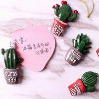 autocollants décoratifs achat en gros de-New Fashion Creative Cactus Plants Aimants Pour Réfrigérateur Kawaii Cute Plants Décoratif Réfrigérateur Souvenir Cadeau Autocollant Magnétique