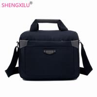 Wholesale 12 Laptop Shoulder Bag - Shengxilu famous brand business man briefcase bag luxury 12 inch laptop bag man shoulder male crossbody bags bolsa maleta