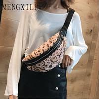 beige fanny packs Canada - New Hot Leopard Women Waist Bag Soft Plush Fanny Pack Winter Fall Lady Shoulder Chest Bag Money Belt Bolso Cintura Mujer