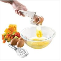 Wholesale plastic egg separator for sale - Group buy Egg cracker Egg Separator Dividers Popular Manual Eggs Cutter Holder The Cheapest Kitchen Tools Hot Sale