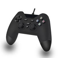 ingrosso scatola nera per android-Controller USB gamepad DOSLY USB cablato per PS3 PC Box TV Android PSVITA (colore nero, nero blu e nero rosso)