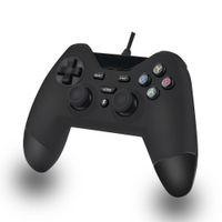 controlador de janela venda por atacado-DOSLY USB Com Fio gamepad controladores personalizados para PS3 PC PSVITA TV Box Janelas Android (cor preta, PretoAzul e preto vermelho)