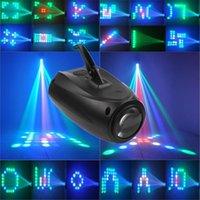 iluminação de pequeno estágio venda por atacado-Laser LED Pequeno Dirigível 64LEDs RGBW Cor Mudando 10 W Moonflower Iluminação Padrão Mágico Luzes Do Palco Projetor para KTV Pub luzes do partido