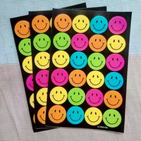 lehrer belohnung aufkleber großhandel-Karikatur-Ausdruck-nette Kind-Lächeln-Kindergartenkursteilnehmer-Belohnungselternlehrer-wesentliche Aufkleber Fabrik-Preis-Großhandel 20 PCS / lot
