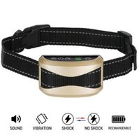 Wholesale rechargeable dog training shock collar - LCD Auto Anti Bark Collar Dog Training Collars Upgrade 7 Sensitivity No Bark Collar with Vibration No Harm Shock Rechargeable CCA8608 10pcs
