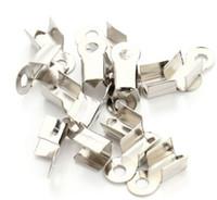 bouchons d'extrémité achat en gros de-1000pcs / lot embouts de cordon en cuir fermoir embouts de perles à sertir pour la fabrication de bijoux 9x4.5mm