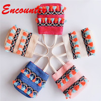 Wholesale stylish bags for girls for sale - Group buy Encounter Summer Stylish Totes for Children Baby girls Small Straw Handbags Little Kids Mini Shoulder Bags Teenagers Lovely coin purse EN124