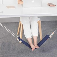 Wholesale Foot Rest Pad - New Creative foot hammock Business lazy foot pad 3Color Mini Office Rest Stand Desk Hot Selling Feet Hammock Drop Shipping