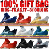 Wholesale Girls Youth Boots - New Girls Kids Soccer Cleats Mercurial Superfly CR7 Neymar V FG AG Football Boots Youth TF Indoor Ronaldo Boys Women Soccer Shoes Magista