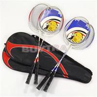 Wholesale Universal Weight - 1Pair Universal Light Weight Aluminium Alloy Battledore High-strength Badminton Racket Racquet With Carry Bag