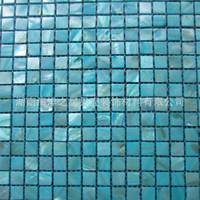 ingrosso cucine da bagno-Shell mosaico piastrelle blu oceano perla cucina backsplash bagno sfondo muro piastrelle piastrelle casa giardino costruzione forniture 210hy bb