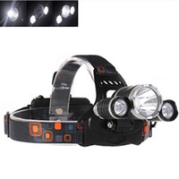 Wholesale headlight plugs - 2018 Wholesale 5000lm CREE XML T6+2R5 LED Headlight Headlamp Head Lamp Light Flashlight 18650 Torch Camping Fishing Rechargeable Lantern