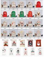 koşu poşetleri çantaları ücretsiz gönderim toptan satış-Noel hediye çanta santa çuvallar büyük kanvas çanta İpli çanta reindeers ile 35 renkler çocuklar için karışık toptan kabul ve ücretsiz kargo