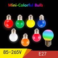 ingrosso 3w globo colorato rgb principale-E27 ha condotto la lampada della lampadina Bomlillas colorato lampada ampolla RGB ha condotto la luce SMD 2835 torcia 85-265 V G45 lampadine globo Home Decor