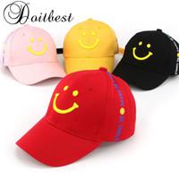 eski anıflı şapkaları toptan satış-2018 Bahar Çocuk uzun şerit Beyzbol Şapkası Yaz çocuklar Güneş Şapka Boys Kızlar için snapback Kapaklar yaş 2-8 yaşında çocuk