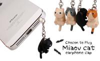 iphone fişini tıkacı toptan satış-Sevimli Peynir Kediler 3.5mm Anti toz Kir-dayanıklı Kulaklık Jack Fiş Adaptörü Telefon Stoper Cap iphone 5 5 s 6 6 S