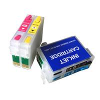 lápiz de impresora al por mayor-T1281 T1282 T1283 T1284 Cartucho de tinta recargable para Stylus S22 SX125 SX420W SX425W SX235W SX130 Impresora con chips de ARC